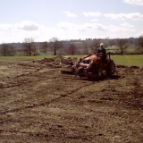 First job to grade soil to levels