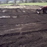 All areas have been rotavated,  stoneraked and graded to level. Then receibve a 2 inch depth of premium grade top soil.