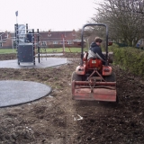 Piers with first pass with rotavator.
